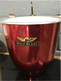 Vintage pieces– Dawsons, Grants and Chivas Regal - or a vintage annodised Wolfblass champagne bucket. Nice one.